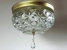 Vintage Crystal Ceiling Light Hollywood Regency Light, Vintage Ceiling Lights, Hollywood Bedroom, Crystal Ceiling Light, Bedroom Vintage, Lights, Vintage Crystal, Vintage, Ceiling Lights