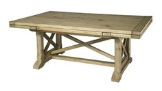 Kincaid Furniture Homecoming - Vintage Pine Refractory Trestle Table Expandable