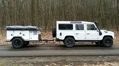 """#Landrover #Defender 110"""" and his trailer."""
