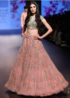 Anushree Reddy - CoutureYard - Indian Bridal Lehenga, Anarkali and Designer Bridal Lehenga, Bridal Lehenga Choli, Indian Lehenga, Lehnga Dress, Half Saree Designs, Choli Designs, Lehenga Designs, Blouse Designs, Indian Designer Outfits