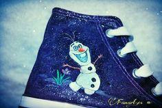 Fanart.es  Zapatillas pintadas a mano / Frozen