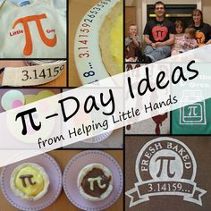 Celebrate Pi Day (3.14) but these ideas are fun for any day.