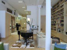 Union Square Loft by Paul Cha Architect with Artemide Tolomeo Spacious Living Room, Ikea Furniture, Interiores Design, Great Rooms, My Dream Home, Interior Architecture, Luxury Homes, Interior Decorating, New Homes