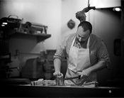 Food Tours - A butcher on the Chelsea Market Tour