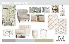Casual Rustic Living Room Design, Blue Green Color Story, JLM Designs Interior Design