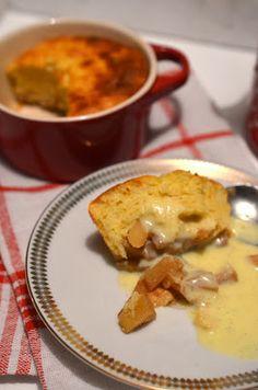 Ninas kleiner Food-Blog: Quarkauflauf mit Zimtäpfeln und Vanillesauce