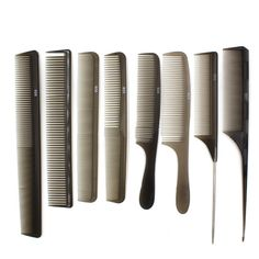Professional Salon Black Hair Styling Hairdressing Cutting Plastic Barbers Brush Combs Hairdressing Salon Styling Barbers M03146 #Affiliate