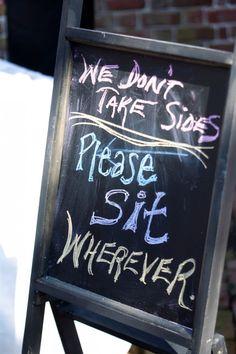 Wedding Chalkboard Please Seat Yourself Sign