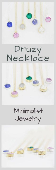 I couldn't love these tiny little dazzling druzy necklaces any more than I do! They offer just the right amount of sparkle and so many layering possibilities! Encased in Sterling Silver or Yellow Gold,Delicate Druzy Necklace, Simple Necklace, Delicate Jewelry, Gift for Her, Druzy Jewelry, Minimalist Jewelry, Minimalist Necklace, Christmas Gift Ideas for Her, Birthday Gift Ideas for Her, Bridesmaid Gift Ideas, Gemstone Necklace #affiliatelink