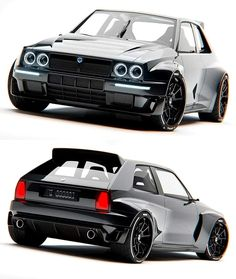 The all new Lancia Delta Integrale Lancia Delta, Custom Muscle Cars, Custom Cars, Drifting Cars, Audi Cars, Unique Cars, Modified Cars, Automotive Design, Sport Cars