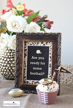 Posh Football Party Ideas with Free Printables. LivingLocurto.com