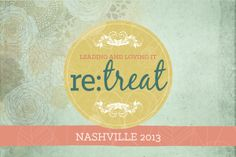 Are you a Pastor's Wife? A ministry wife? Serving on a church staff? Running a Christian non-profit? A missionary? If so, then this retreat is designed specifically for you. Retreat: Nashville 2013 is about CONNECTING, ENCOURAGING, and EQUIPPING women in ministry and leadership. Find out ALL the details at www.leadingandlovingit.com/connect/retreat