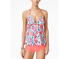 Hula Honey Dreaming in Color Printed Push-Up Tankini Top & Boy Shorts - Swimwear - Women - Macy's