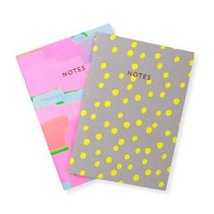 colourful notebooks by Oliver Bonas