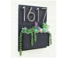 Address Planter   Address Sign with Planter Box   Address Plaque   House Numbers