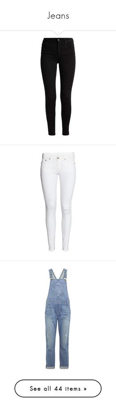 """""""Jeans"""" by kingkinberlyn ❤ liked on Polyvore featuring jeans, pants, bottoms, skinny fit jeans, skinny leg jeans, skinny jeans, super skinny jeans, calças, white ripped jeans and ripped skinny jeans"""