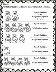 Multiplication worksheets Grade Arrays,Repeated Addition,Number-line Array Worksheets, Free Multiplication Worksheets, 1st Grade Math Worksheets, Addition Worksheets, Teaching Tips, Teaching Math, Math Resources, Math Activities, Array Math