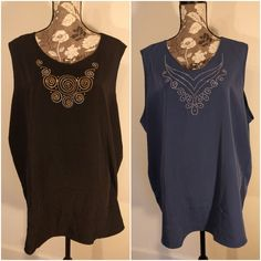 Maggie Sweet Womens Plus Size 3X Lot of 2 Top Shirt Shell Embellished Career #MaggieSweet #Shell #Caree #MaggieSweetPlusSize #PlusSizeFashion #EmbellishedTopr