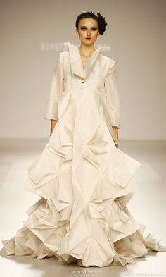 Origami inspired wedding dress from Devota y Lomba Bridal couture collection