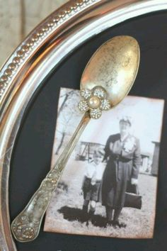 magnets attached to embellished old spoons...PRETTY!