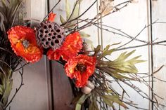 Crimson Autumn Wreath  Fall Wreaths  Fall Decor  by TheLinnetsWing, $64.00