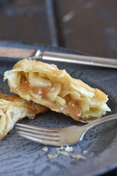 """Puff Pastry is a light, flaky pastry made by layering shortening and pastry dough, then rolling out and folding the dough repeatedly. This painstaking process yields a pastry made of dozens of layers. The pastry """"puffs"""" when baked because the moisture in the shortening creates steam between the layers, causing them to separate."""