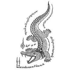 Sak Yant designs & meanings | Thai Tattoo Bangkok Ink Tattoo Studio Khmer Tattoo, Muay Thai Tattoo, Hawaiian Tribal Tattoos, Samoan Tribal Tattoos, Sak Yant Tattoo, Maori Tattoos, Thai Tattoo Meaning, Animal Tattoo Meanings, Crocodile Tattoo