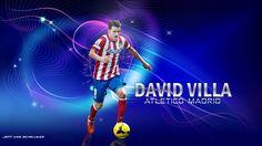 David Villa Atletico Madrid Wallpaper