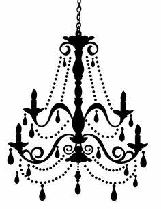 Doodle Craft...: Freebies Week: Chandelier Silhouettes!
