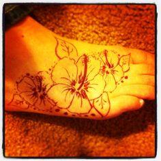 Hibiscus henna tattoo