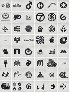 Great collection of retro logos