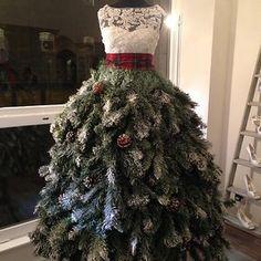 Christmas Tree Dress - Karen Elizabeth Bridal Window Display