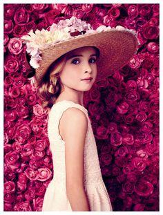 dior baby | baby dior girls white summer dress and hat 2014
