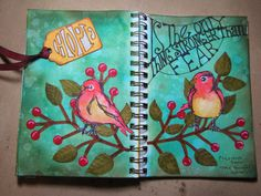 Dina Wakley's Scribbly Birds.  So cute!