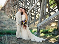 Bride & Groom In A Ranch Styled Wedding at Brasada Ranch photography by Marina Koslow Local Photographers, Ranch Style, Bride Groom, Rustic Wedding, Couples, Wedding Dresses, Gallery, Photography, Inspiration