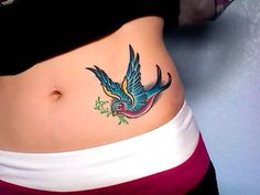 Small beautiful swallow on the hip. Swallow flying with branch. . Color: Colorful. Tags: Cute, Awesome