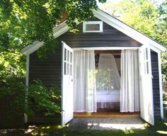 Backyard Guest House Ideas | Tuesday Inspiration: The Backyard Cottage- exterior color