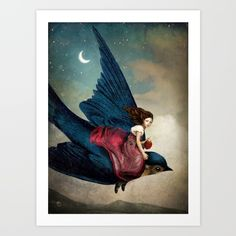Fairytale Night Art Print by Christian Schloe. Worldwide shipping available at Society6.com. Just one of millions of high quality products available.