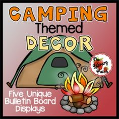"This unique set of graphics is perfect for decorating your classroom or library media center for a Camp Read Smore theme. This pack includes all that you need to decorate FIVE bulletin board, walls, doors, etc.1) HUGE Camp Read S'More Banner2) Back to Basic Set3) Campfire Corner Letter Set4) Our Neck of the Woods Genre Signposts5) Stencils and paw prints for ""Do Not Feed the Bears"" DisplayAll display graphics have been designed to be printed on a standard printer."