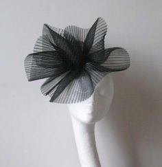 Black Fascinator Kentucky Derby or Wedding Hat     $80.00