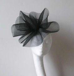 Black Fascinator Kentucky Derby or Wedding Hat     $80.00