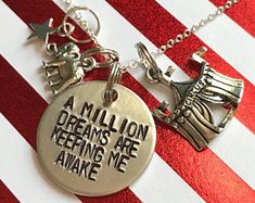 """Greatest Showman Inspired Hand-Stamped Necklace - """"A Million Dreams Are Keeping Me Awake"""""""