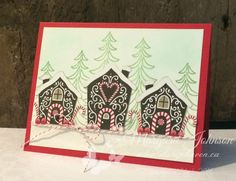 Candy Cane Lane Designer Paper and tree image from Santa's Sleigh - Images © Stampin' Up! Card design by Margaret Johnson - www.stamphaven.ca