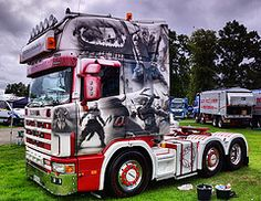 Viking Scania (paul c thomson) Tags: truck scotland viking airbrush scania truckfest hgv