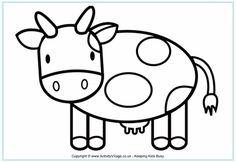 Cow colouring pages - Kamadhenu in Parshuram pastime