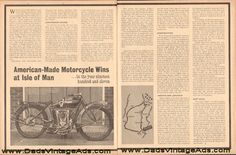 1911 American-Made motorcycle wins at Isle of Man