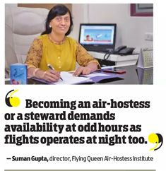 The job of an Air Hostess is challenging and demanding. It requires some specific skills and personality traits to be an Air Hostess/Cabin Crew. She/he has to deal and satisfy passengers from various backgrounds like common people, celebrities, VIPs, Business magnets and politicians etc. So, an aspirant has to be smart, well-dressed, soft spoken, empathetic, brainy and cool minded. To read the complete article click the link below…