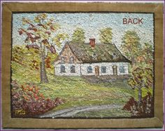 Back of Trembley rug Hook Punch, Vintage Hooks, Hand Hooked Rugs, Penny Rugs, Punch Needle, Rug Hooking, Wool Rug, Primitive, Needlework