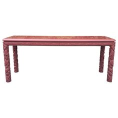 1stdibs Console Table Extra Long Asian Style Lacquered American Lacquer
