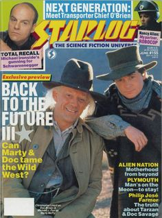 Starlog Magazine Covers | The Starlog Project: Starlog #155, June 1990: Threepeat – Back to ...